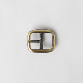 Rounded Center Bar Buckle Antique