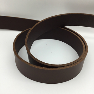 Vegetable Tanned Belt Blank - Brown Pull-Up