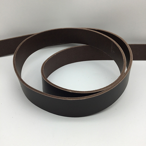Vegetable Tanned Belt Blank - Chestnut