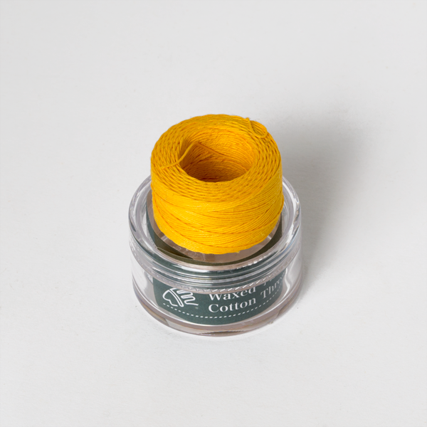 Waxed Cotton Thread Yellow Middle 0.5mm