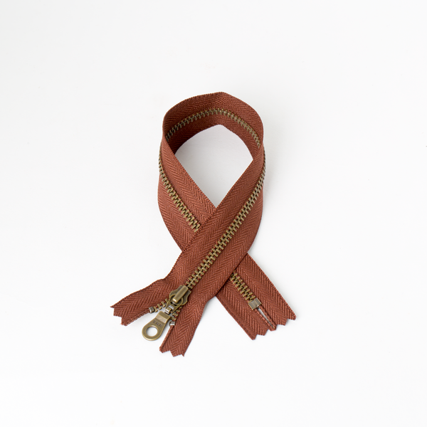 #3 Zipper Dark-Bronze Coffee 30cm