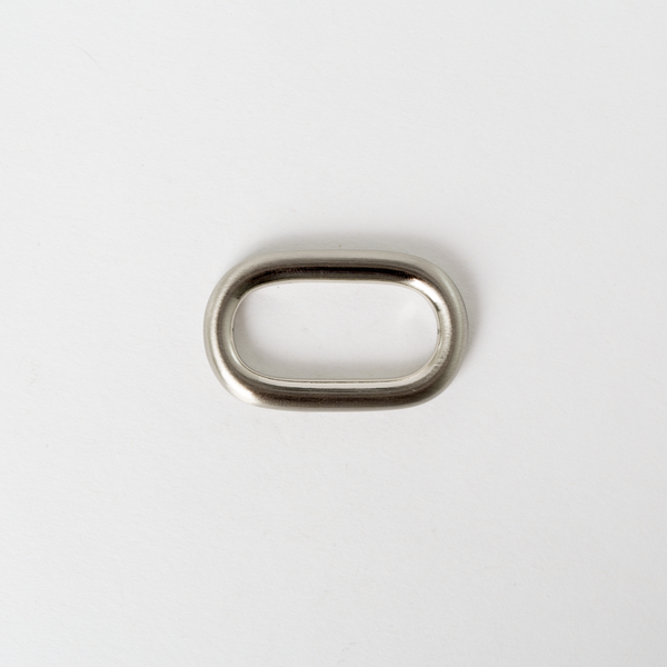 Solid Brass Oval Ring Nickel Finish