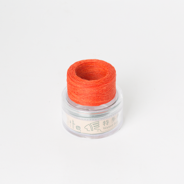 Waxed Thread Thin Orange 0.3mm