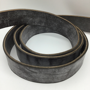 English Bridle Belt Blank - Dark Havana