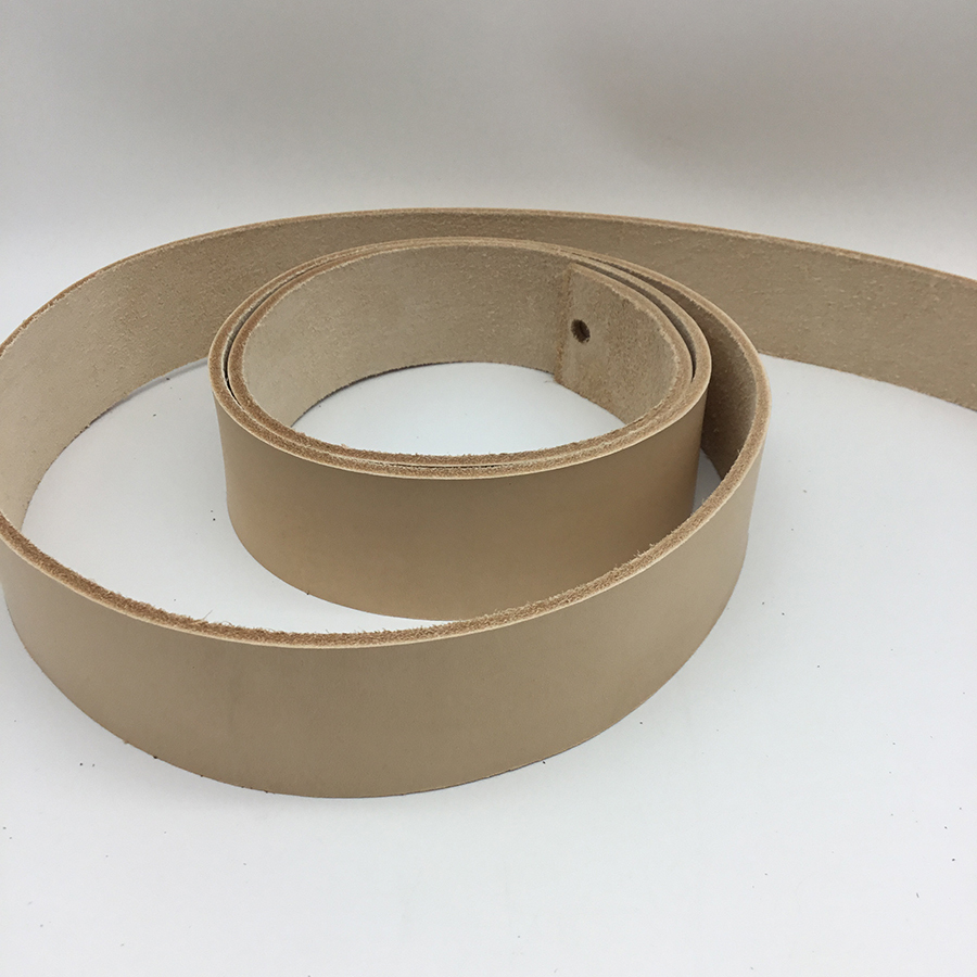 Vegetable Tanned Belt Blank - Natural