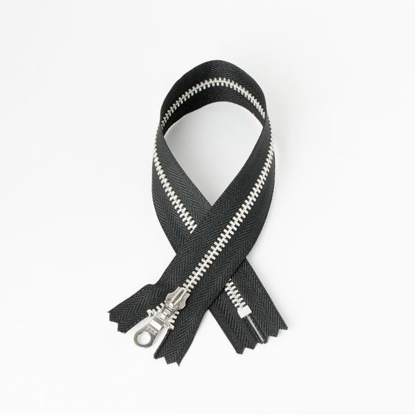 #5 Zipper Aluminum Black 45cm