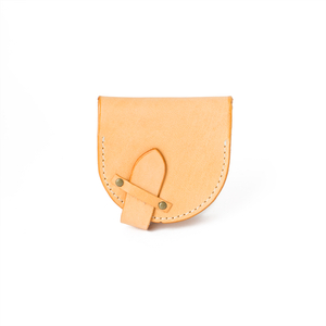 U-Shaped Coin Pouch BlackBrown 15X7.5cm