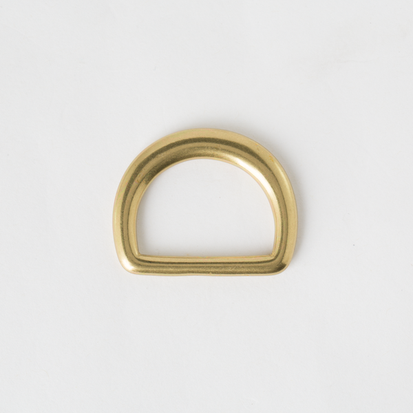 Solid Brass D-Ring Antique Finish