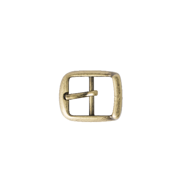 Stepped Center Bar Buckle Antique Brass