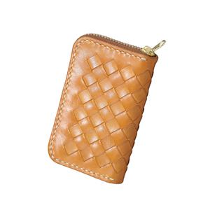 Woven Zipper Wallet Natural 10.5X6.5X1.8cm