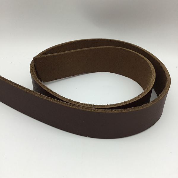 Vegetable Tanned Belt Blank - Milled Mahogany