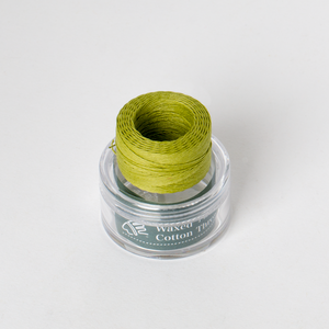 Waxed Cotton Thread Mustard Green Middle 0.5mm