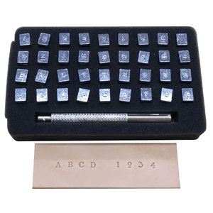 Imported Alphabet+Number Stamp Tool 4mm