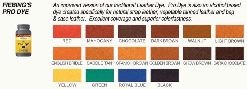 Fiebings Pro Dye Chart
