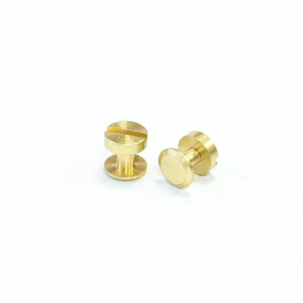 Solid Brass Screw Post Yellow-Brass 10X6mm 2 Set