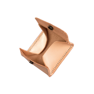 Simplism Squared Pouch Natural 6.5X6.5cm Natural, Tan, Brown, Black