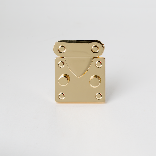 Square Kelly Bag Clasp - Gold 40mm
