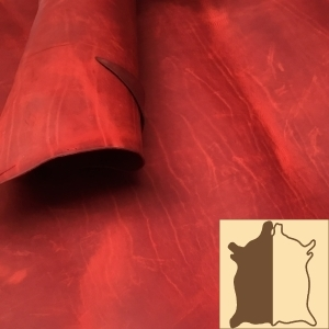 English Red Hide Leather