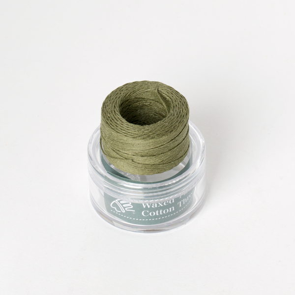 Waxed Cotton Thread Olive Green Middle 0.5mm