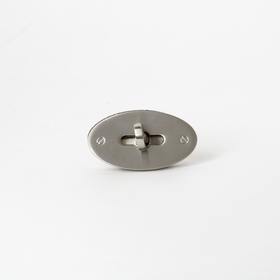 Oval Bag Clasp - Nickel