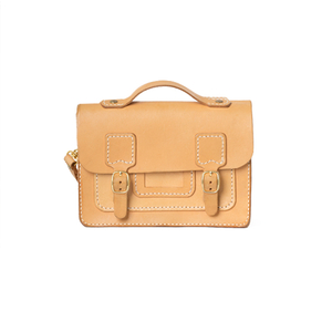 Amber Satchel Natural 18X13.6X6cm
