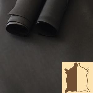 Oily Black Kip Leather